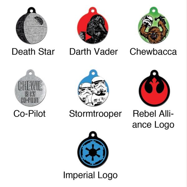 """Platinum Pets Star Wars 1.25"""" Smartphone Pet ID Tag"""