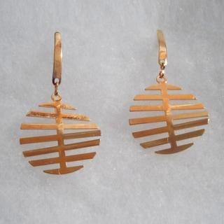 18k Gold Plated Dangle Earrings
