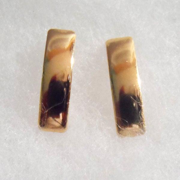 18k Gold Plated Rectangular Stud Earrings