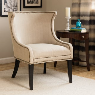 Demi Ritual Linen Accent Wing Chair