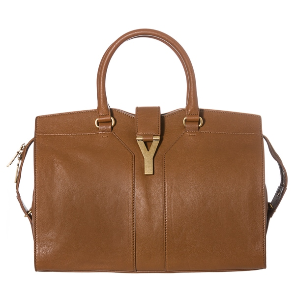 Yves Saint Laurent Women's 'Cabas ChYc' Nut Leather Medium Tote Handbag
