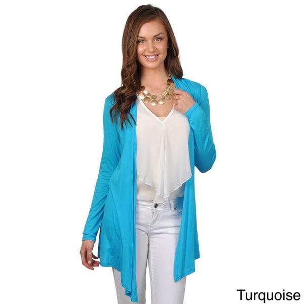 Journee Collection Women's Open Front Long Sleeve Cardigan
