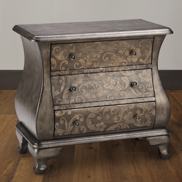 Artisian Pewter 2 Toned Bombe Accent Chest