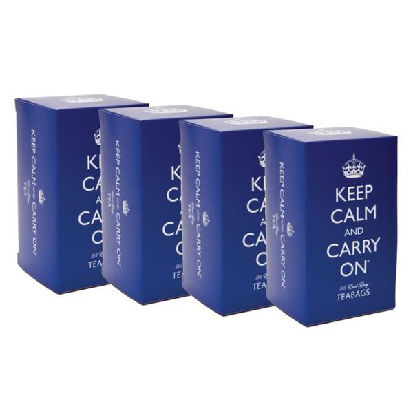 'Keep Calm & Carry On' Earl Grey Tea Tins (Set of 4)