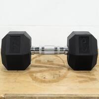 Valor Fitness RH-30 30lb Rubber Hex Dumbbell (Pair)