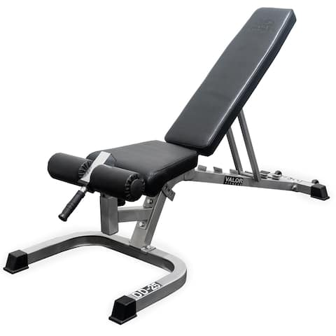 Valor Fitness DD-25 Adjustable Flat, Incline, Decline Bench with Wheels and Leg Support
