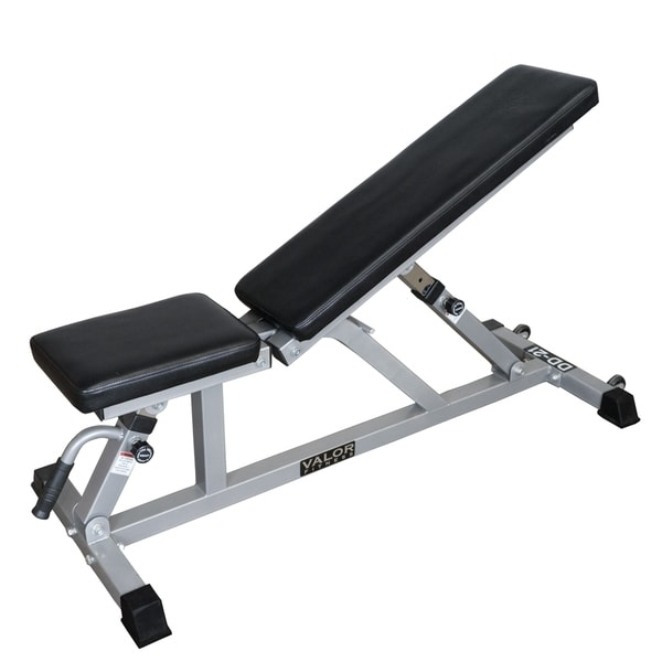 Valor Fitness Adjustable Weight Bench for Flat or Incline Bench Press With Wheels DD-21 Workout Benches for Home. Opens flyout.