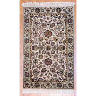 Herat Oriental Indo Hand-knotted Mahal Wool Rug (3' x 5')