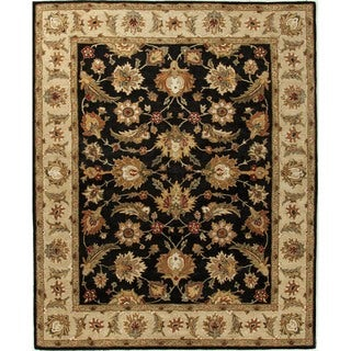 Traditional Oriental Gray/ Black Wool Tufted Rug (12' x 15')