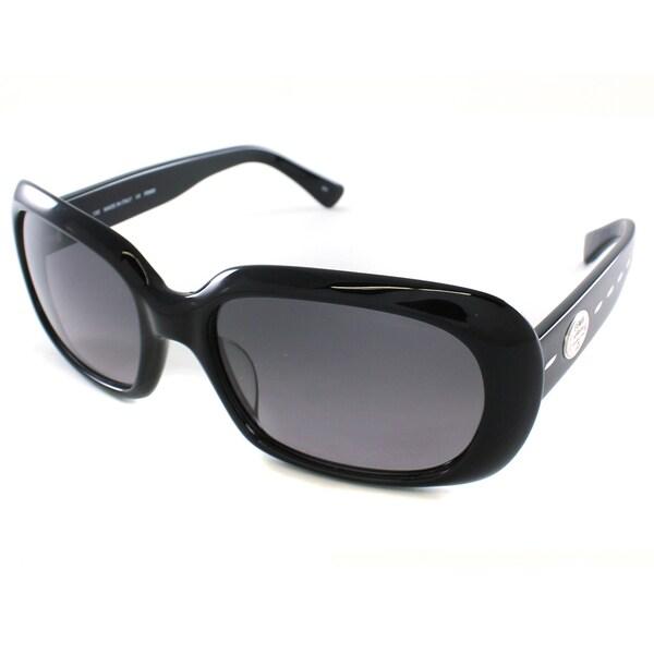 Fendi Women's FS5182 001 Black Rectangle Plastic Sunglasses