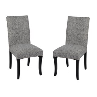 Armen Living Deborah Ash Grey Nailhead Accented Dining Chairs (Set of 2)