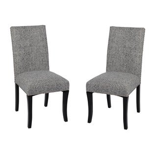 Ash Grey Nailhead Accented Side Chairs (Set of 2)