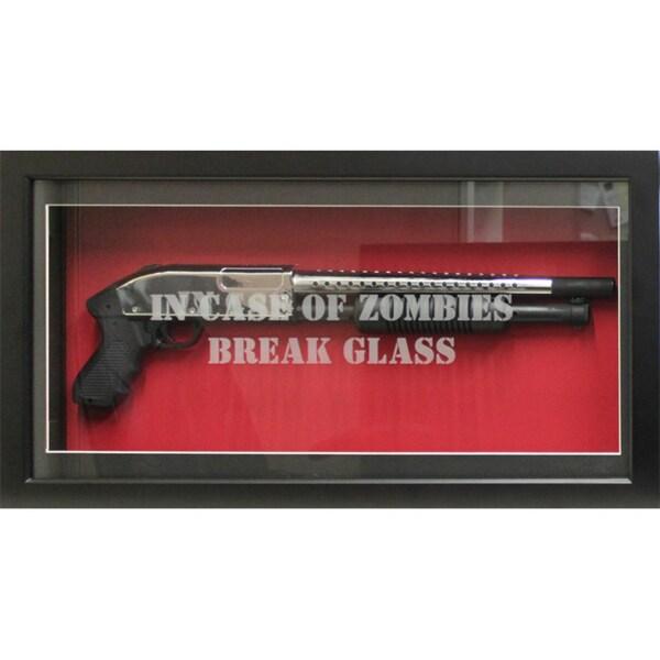 Encore Select 'In Case of Zombies Break Glass Shotgun Shadowbox'
