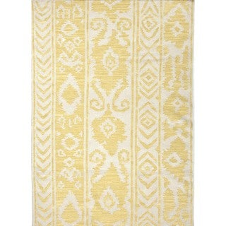 Flat Weave Tribal Gold/ Yellow Wool Rug (8' x 10')