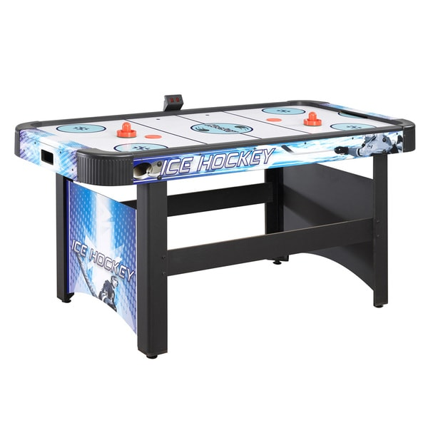 8fcac54db7a Face-Off 5-Ft Air Hockey Game Table for Family Game Rooms with Electronic