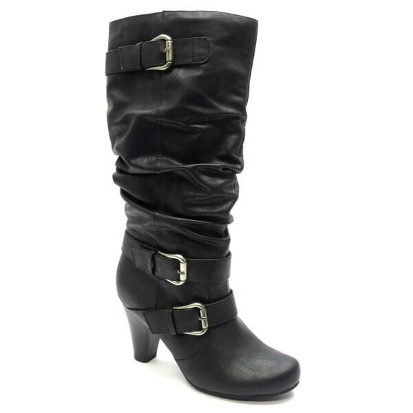 Blue Women's 'Davida' Black Mid-calf Boots