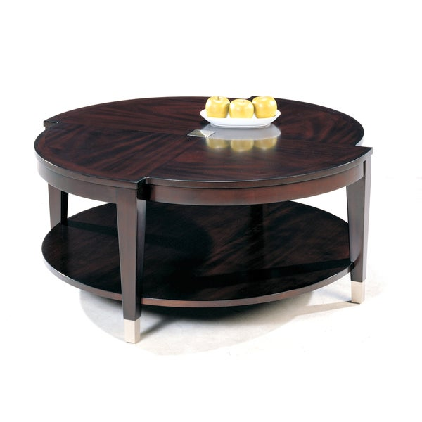 Helix Round Wood Cocktail Table