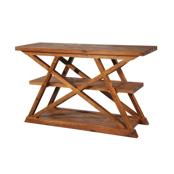Farmhouse Cross-braced Sofa Table