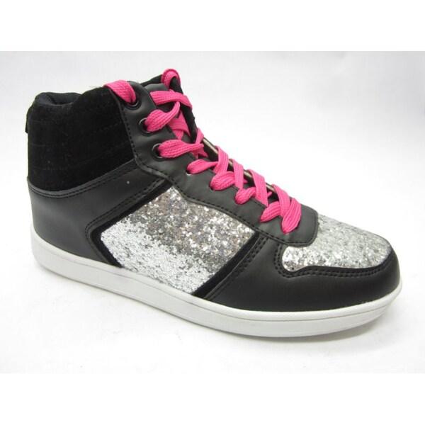 Blue Women's 'Skaty' Glimmer Silver/ Black Sneakers