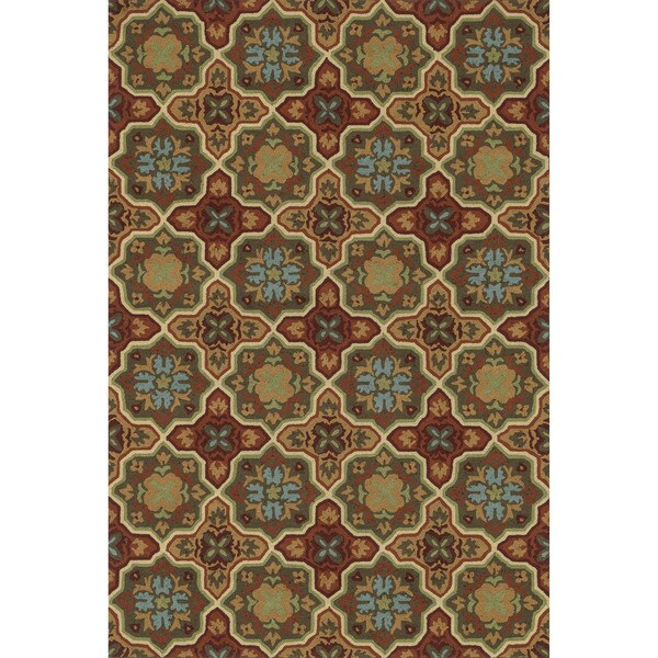 Hand-hooked Charlotte Spice Rug (2'3 x 3'9)