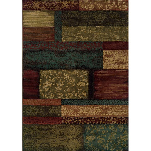 Indoor Brown/Teal Area Rug