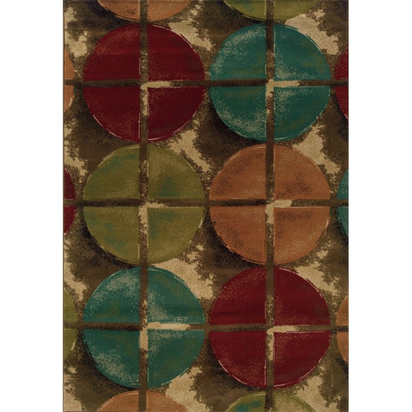 Indoor Brown/ Teal Area Rug