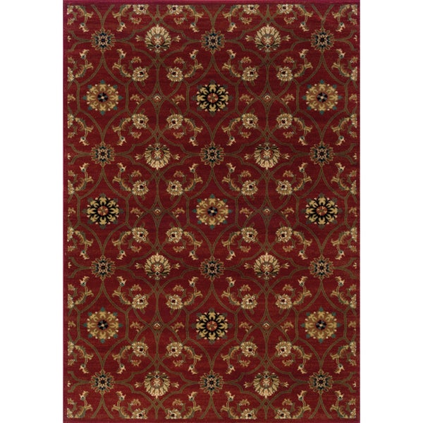 Indoor Red/ Brown Area Rug