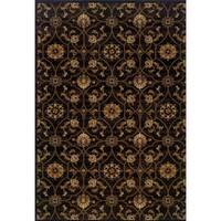 Indoor Black/ Brown Area Rug