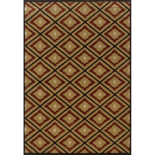 Indoor Gold/ Red Area Rug