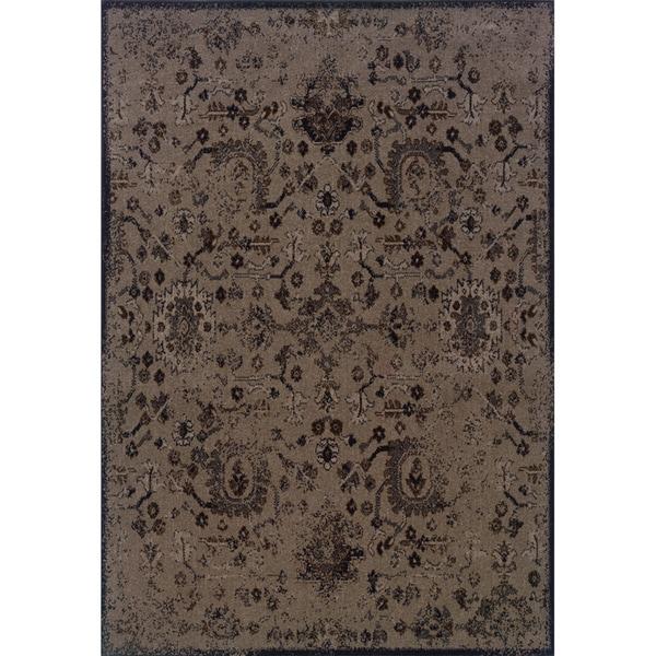 Indoor Beige/ Black Area Rug