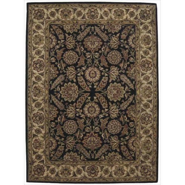Nourison Hand-tufted Jaipur Black Wool Rug