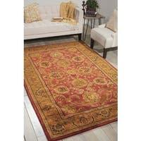 Nourison Hand-tufted Jaipur Burgundy Wool Rug