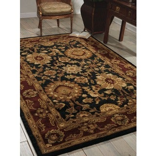 Nourison Hand-tufted Jaipur Midnight Wool Rug