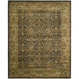 Nourison Hand-tufted Jaipur Aubergine Wool Rug