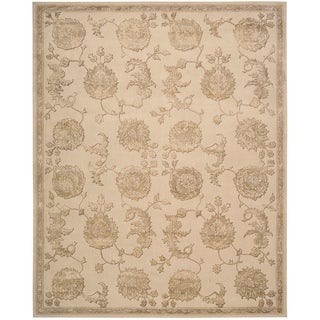 Nourison Hand-tufted Floral Regal Sand Wool Rug