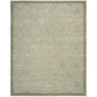 Nourison Hand-tufted Floral Regal Blue Cloud Wool Rug