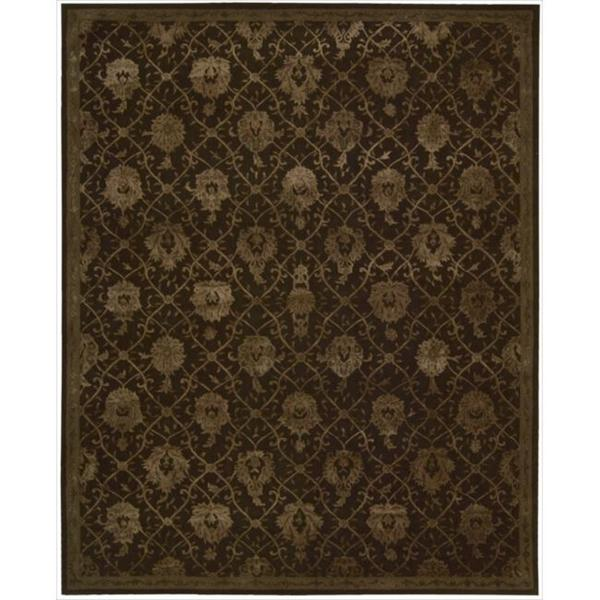 Nourison Hand-tufted Floral Regal Dark Chocolate Wool Rug