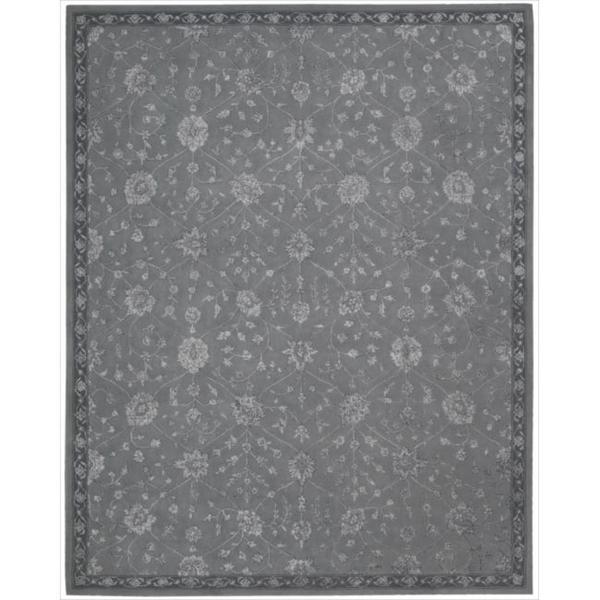Nourison Hand-tufted Floral Regal Slate Wool Rug