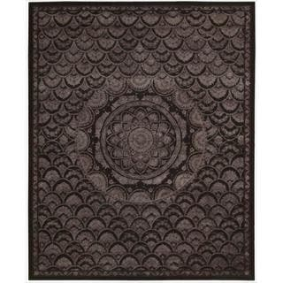 Nourison Regal REG08 Hand-tufted Area Rug (39 x 59 - Black)