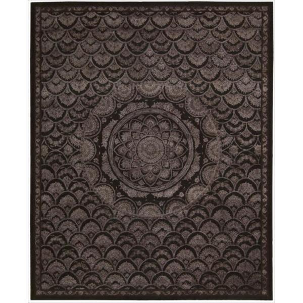 Nourison Hand-tufted Floral Regal Espresso Wool Rug