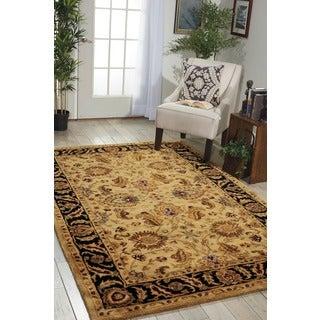 Nourison Hand-tufted Jaipur Beige Wool Rug
