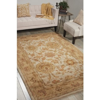 Nourison Hand-tufted Jaipur Creme Wool Rug
