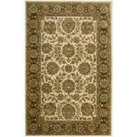 Nourison Hand-tufted Jaipur Ivory/ Brown Wool Rug