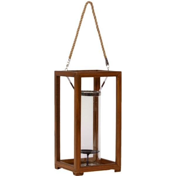 Urban Trends Collection Medium Metal/Wood Lantern