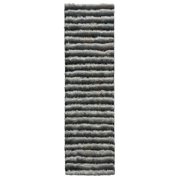 Nourison Urban Safari Chinchilla Shag Area Rug (2'3 x 8')