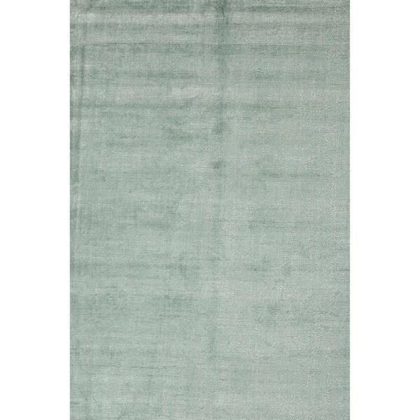 Hand-loomed Solid Blue Wool/ Silk Rug (9' x 13')