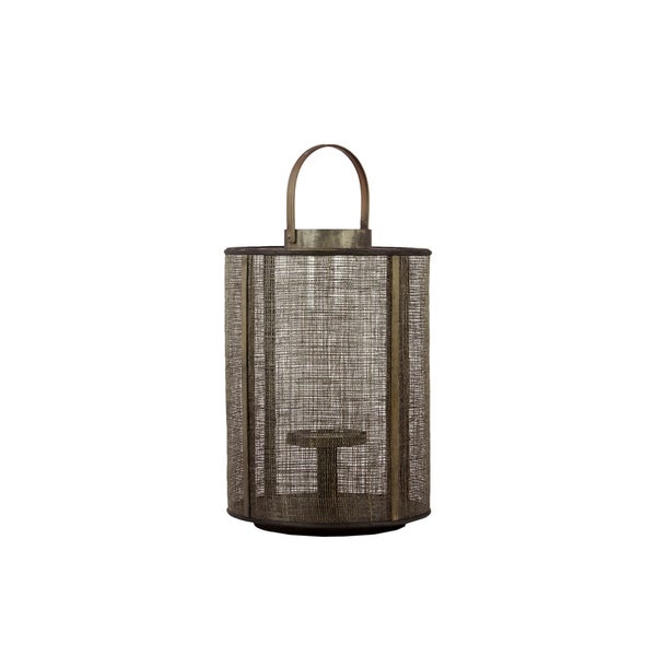 Urban Trends Collection 17-Inch Decorative Brown Wooden Lantern