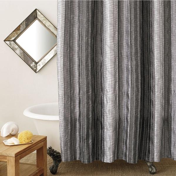 Manor Hill Sierra Onyx Fabric Shower Curtain