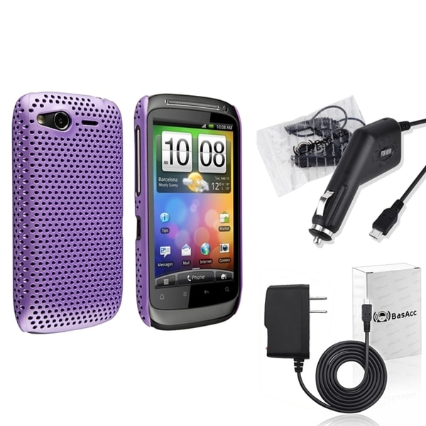 BasAcc Case/ Car Charger/ Travel Charger for HTC Desire S/ Desire 2