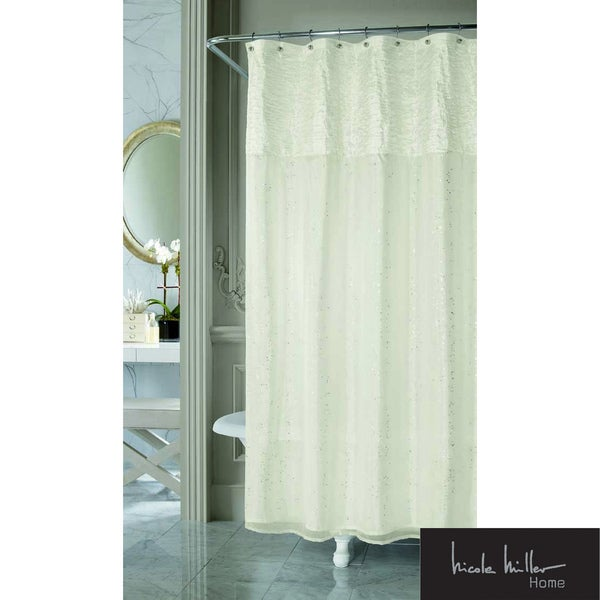 Nicole Miller Sparkle Fabric Shower Curtain